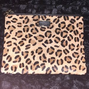 Osprey London Leopard Print Clutch. New